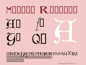 Motley Regular Macromedia Fontographer 4.1 26/04/2005 Font Sample