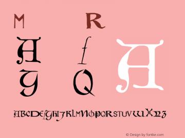 Motley Regular Altsys Metamorphosis:27.10.1999 Font Sample
