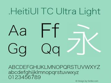 .HeitiUI TC Ultra Light 9.0d9e4 Font Sample
