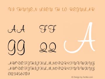 VI Huyen lieu H 1.0 Regular Unknown Font Sample