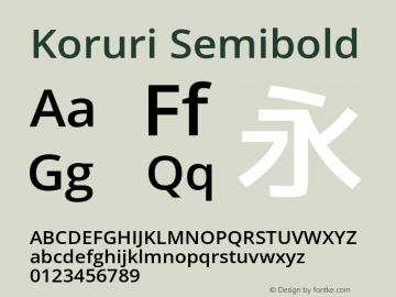 Koruri Semibold Version 1.00 Font Sample