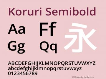 Koruri Semibold Version Koruri-20131228 Font Sample