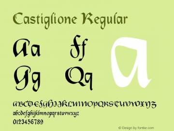 Castiglione Regular Altsys Fontographer 3.5  6/25/93 Font Sample