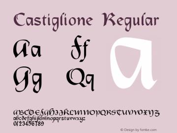 Castiglione Regular Macromedia Fontographer 4.1 26/04/2005 Font Sample