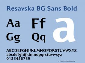 Resavska BG Sans Bold Unknown Font Sample