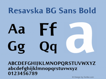 Resavska BG Sans Bold Unknown图片样张