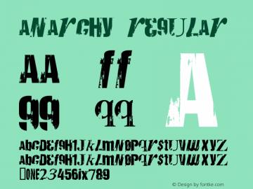 Anarchy Regular Macromedia Fontographer 4.1 2/26/99 Font Sample