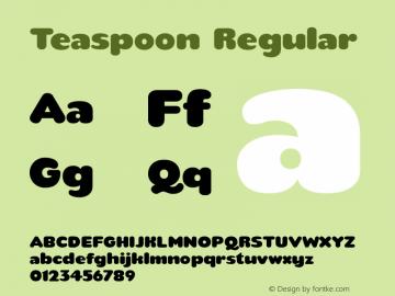 Teaspoon Regular 1.5 April 2008 Font Sample