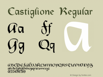 Castiglione Regular 001.000 Font Sample
