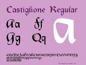 Castiglione Regular Version 001.000 Font Sample