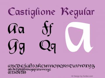 Castiglione Regular Version 001.000 Font Sample