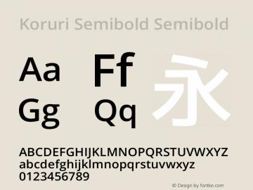 Koruri Semibold Semibold Koruri-20140524 Font Sample