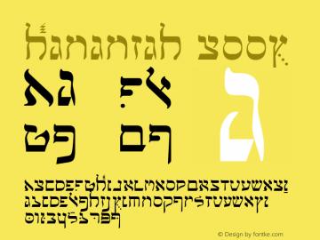 Hananiah Book Version 0.2 Font Sample