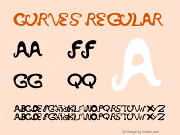 curves Regular Version 1.00 May 13, 2007, initial release Font Sample