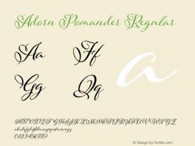 Adorn Pomander Regular Version 1.000 | wf-r Font Sample