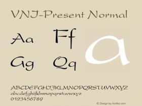 VNI-Present Normal 1.0 Tue Nov 30 12:11:42 1993 Font Sample