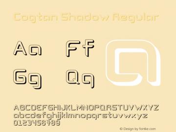 Cogtan Shadow Regular Version 1.000 Font Sample