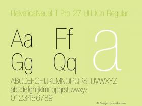 HelveticaNeueLT Pro 27 UltLtCn Regular Version 1.400;PS 001.004;hotconv 1.0.38 Font Sample