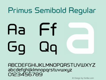 Primus Semibold Regular Version 1.001 July 6, 2014 Font Sample