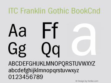 ITC Franklin Gothic BookCnd Version 001.000 Font Sample