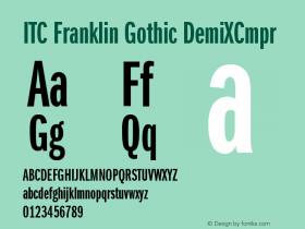 ITC Franklin Gothic DemiXCmpr Version 001.000 Font Sample