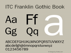 ITC Franklin Gothic Book Version 001.003 Font Sample