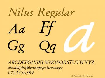 Nilus Regular Version 6.00图片样张