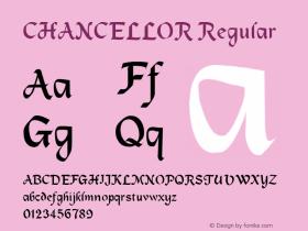 CHANCELLOR Regular Unknown Font Sample