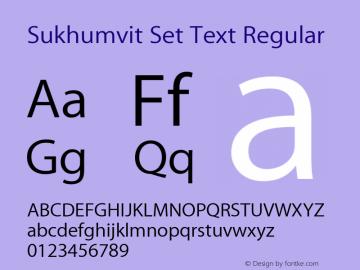 Sukhumvit Set Text Regular Version 10.0d10e1 Font Sample