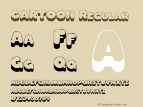CARTOON Regular Unknown Font Sample