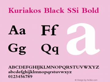 Kuriakos Black SSi Bold 001.000图片样张