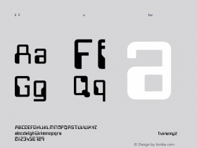 E Future Regular Converted from C:\TEMP4\FUTURE.TF1 by ALLTYPE Font Sample