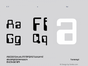 E Future Regular Converted from C:\TEMP4\FUTURE.TF1 by ALLTYPE图片样张