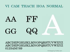 VI Cam Thach Hoa Normal 1.0 Thu Jul 15 08:09:14 1993 Font Sample