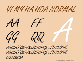 VI My Ha Hoa Normal 1.0 Thu Jul 15 08:35:34 1993 Font Sample