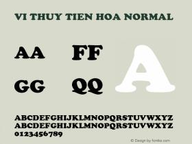 VI Thuy Tien Hoa Normal 1.0 Thu Jul 15 08:58:35 1993 Font Sample