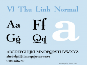 VI Thu Linh Normal 1.0 Mon Jul 19 07:36:51 1993 Font Sample
