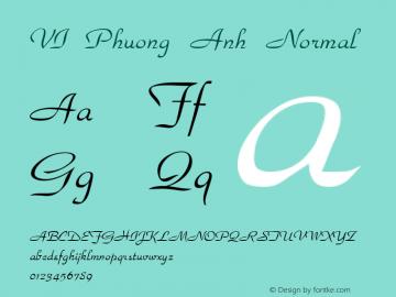 VI Phuong Anh Normal 1.0 Tue Jul 20 08:20:19 1993 Font Sample