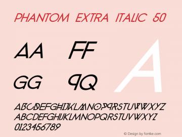 phantom extra italic 50 Version 1.0图片样张