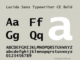 Lucida Sans Typewriter CE Bold Version 1.01 Font Sample