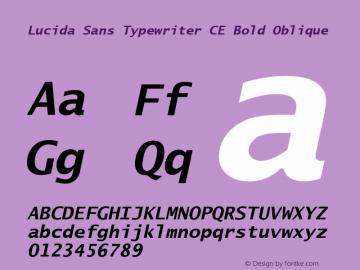 Lucida Sans Typewriter CE Bold Oblique Version 1.01 Font Sample