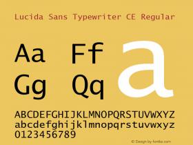 Lucida Sans Typewriter CE Regular Version 1.01 Font Sample
