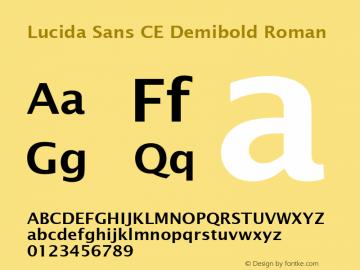 Lucida Sans CE Demibold Roman Version 1.01 Font Sample