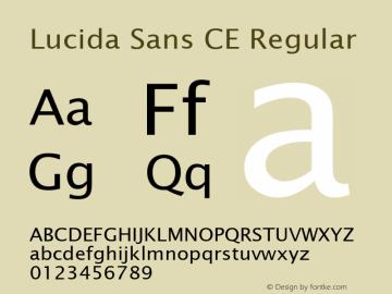 Lucida Sans CE Regular Version 1.01 Font Sample