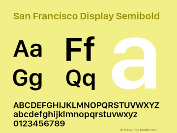 San Francisco Display Semibold 10.0d46e1 Font Sample