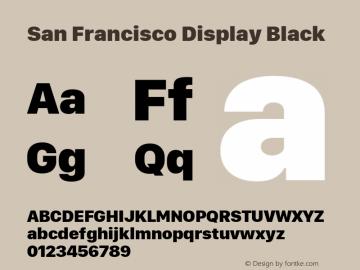 San Francisco Display Black 10.0d27e2--BETA Font Sample