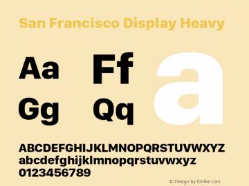 San Francisco Display Heavy 10.0d27e2--BETA Font Sample