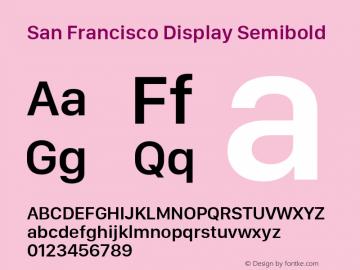 San Francisco Display Semibold 10.0d27e2--BETA Font Sample