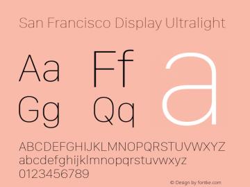 San Francisco Display Ultralight 10.0d27e2--BETA Font Sample