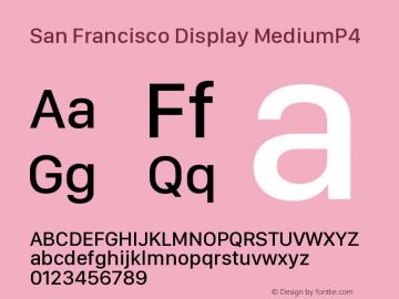 San Francisco Display MediumP4 10.0d27e2--BETA Font Sample